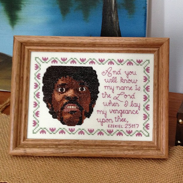 New cross-stitch. This ought to put people at ease in my home. #steotchalong #saywhat1moretime #crossstitch
