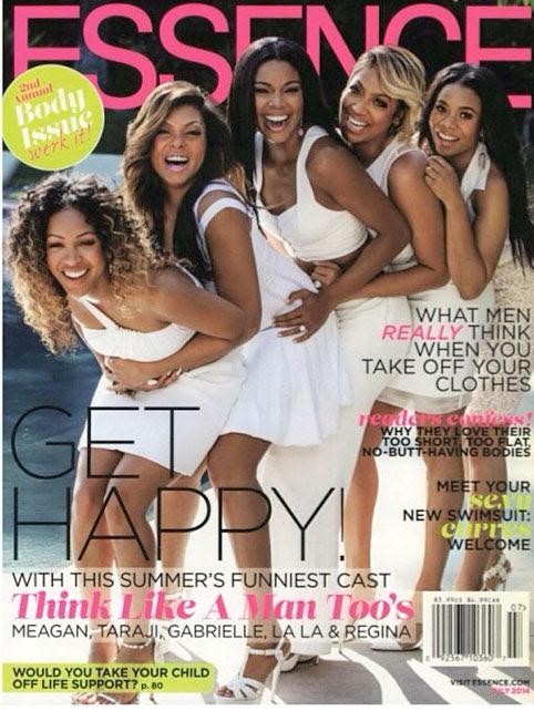 Meagan Good, Taraji P. Henson, LaLa Anthony, and Regina King of Think Like a Man Too for Essence July 2014