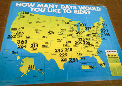 Annual Ridable Days Map