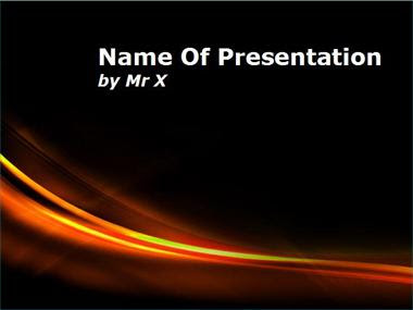 Curves Of Fire Powerpoint Template