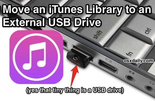 iTunes library on an external drive