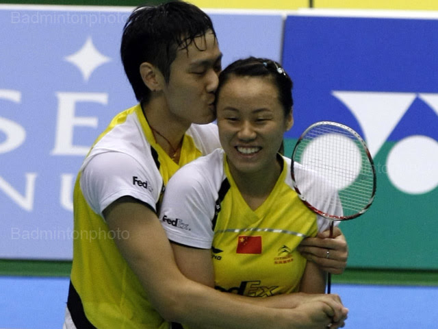 Zhao Yunlei Chinese mixed doubles Badminton Player hot and beautiful stills
