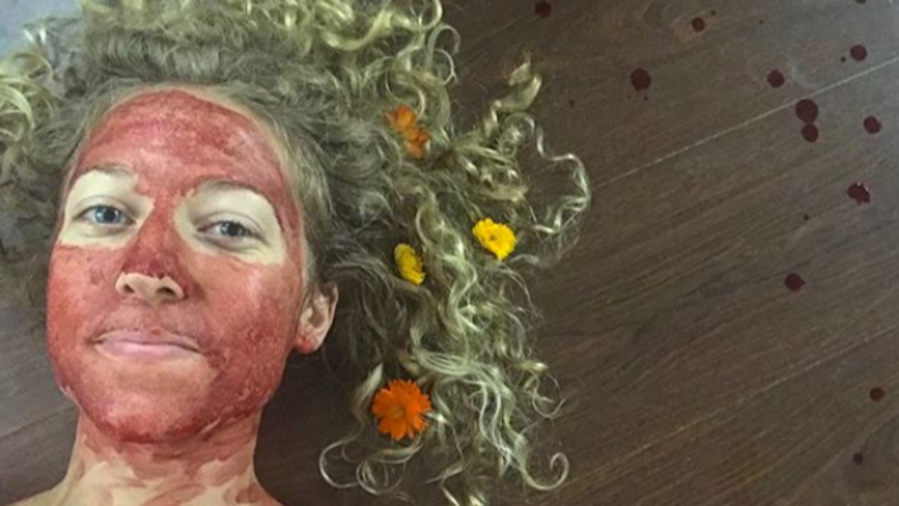 Woman Smears Menstrual Blood On Her Face To Show It's Beautiful