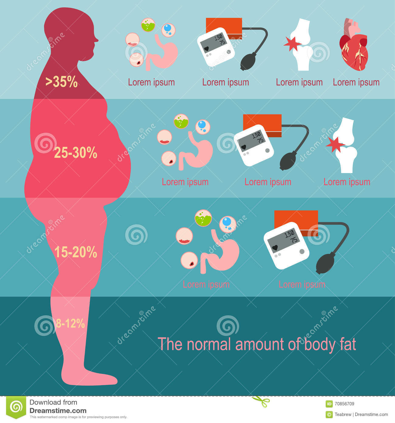 body fat percentage based on pictures