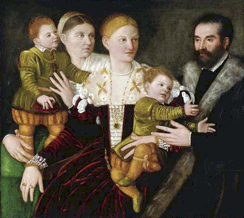 Bernardino Licinio Portrait of a Family