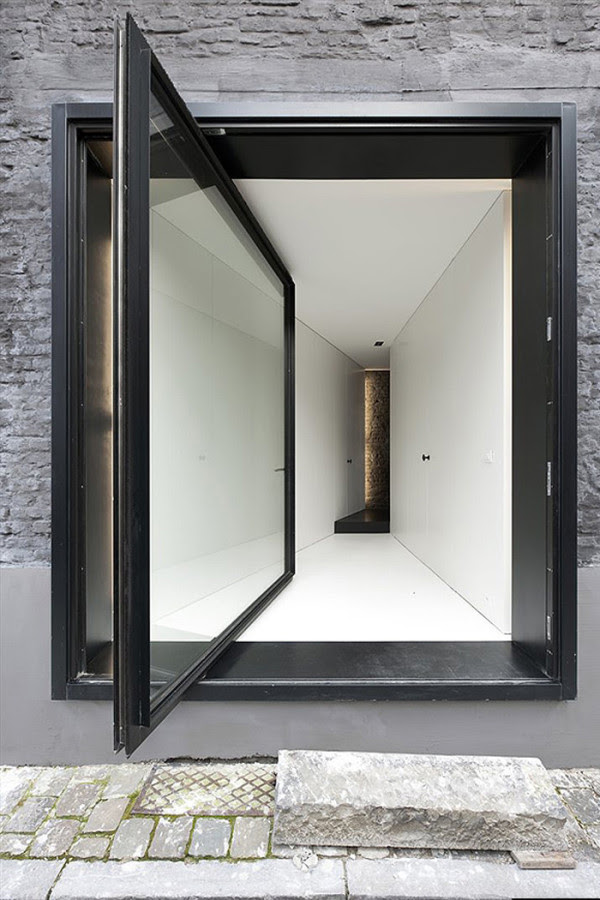 An Alternative to the Sliding Door: 12 Pivot Doors Leading to Patios in interior design architecture  Category