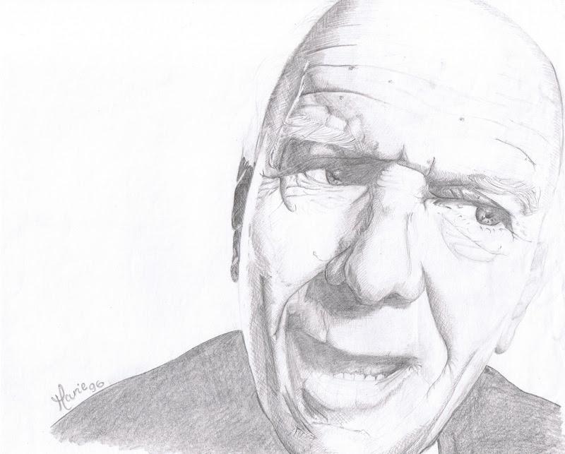 portrait grumpy old man Marie-Judith