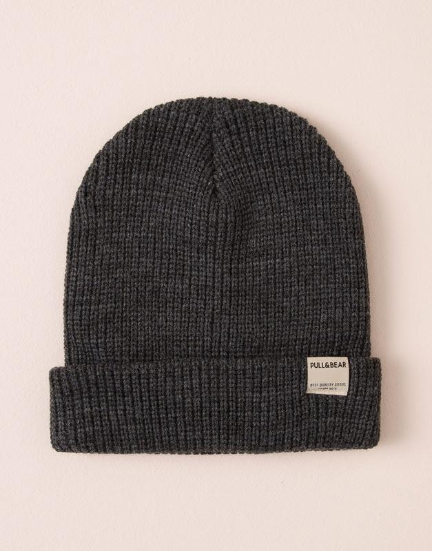 Pull&Bear - hombre - gorros y sombreros - gorro punto - gris vigo - 09831521-I2015