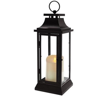 Luminara Heritage Indoor Outdoor Lantern 16 w/Flameless ...