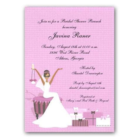 invites for bridal shower   Glamour African American Bride