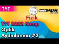 Fizik   TYT   TYT 2022 Kamp   Optik   Aydınlanma #2 - Umut Öncül Akademi