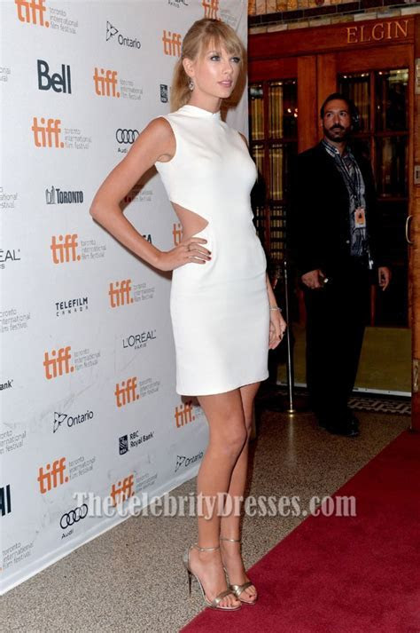 Taylor Swift White Back Cut Out Party Dress ?One Chance