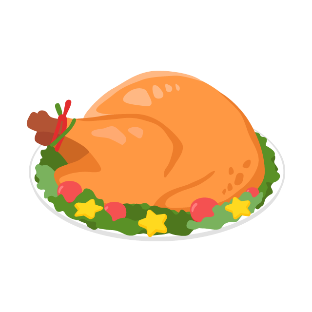 鶏の丸焼きの無料ベクターイラスト素材 Picaboo ピカブー 無料ベクターイラスト素材