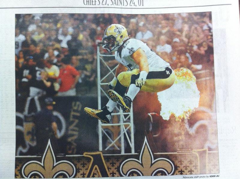 άγιοι ποδοσφαίρου κλανιά εφημερίδα τέλειο συγχρονισμό