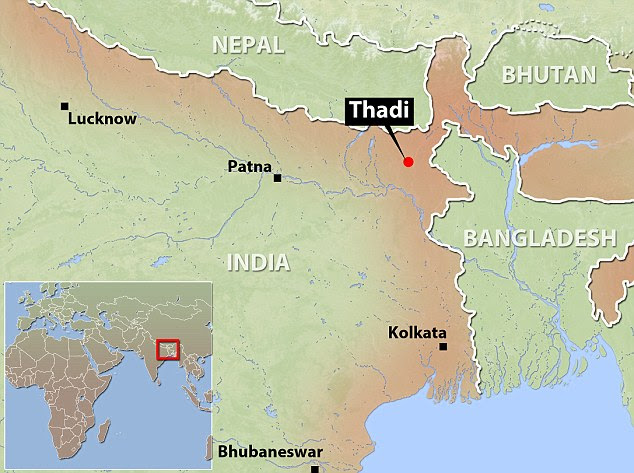 Brutal: A hastily convened village court sentenced Chhotu Kumar from Thadi village in eastern Bihar's Purnia district to the barbaric punishment