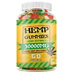 Hemp Gummies 30,000mg – 100% Natural Hemp Oil Infused Gummies for Anxiety, Stress Relief, Promotes Sleep, 60 Sweets