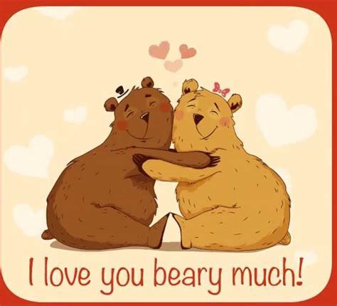 I Love You Beary Much! Bear Hugs! Free I Love You eCards