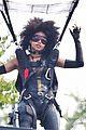 zazie beetz films her own stunts on deadpool 2 set 03