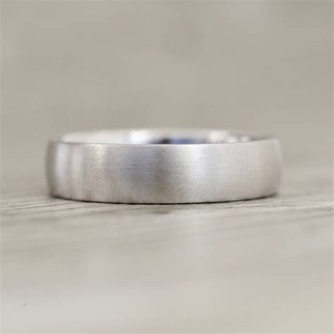 5.5mm Low Dome Satin Finish Band in Platinum