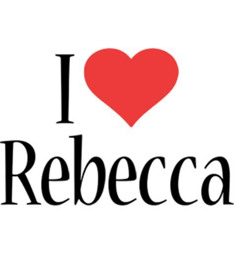 Rebecca Logo   Name Logo Generator   I Love, Love Heart
