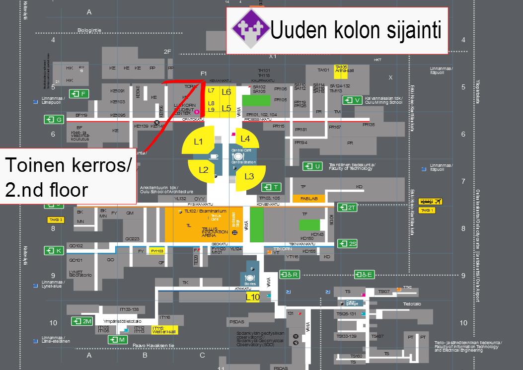 Oulun Yliopisto Kartta