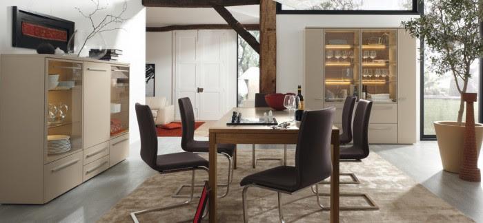 modern brown dining room