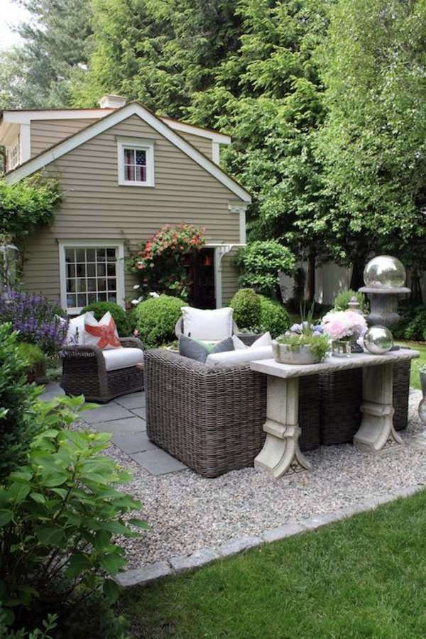 Landscaping with gravel and stones - 25 garden ideas for ...