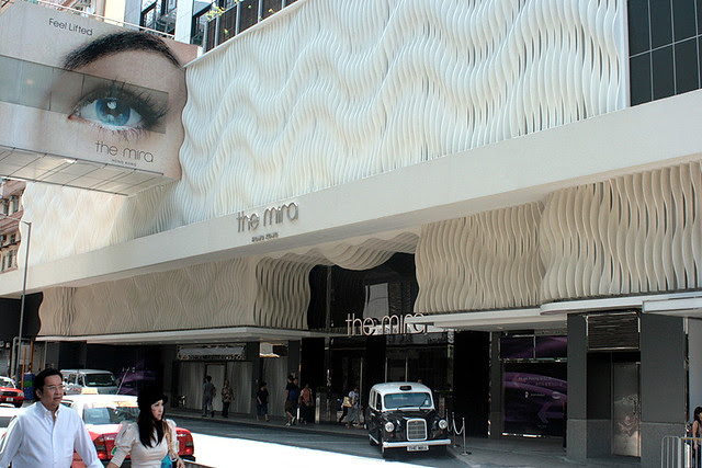 The Mira is at 118 Nathan Road in Tsim Sha Tsui