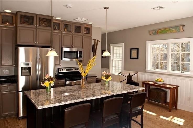 Upper cabinets with glass doors   Kitchen   Pinterest