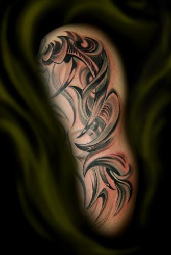 Upper Arms Half Sleeve Tribal Tattoos For Men Tribal Tattoos