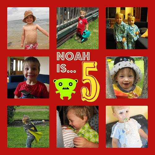 Noah is 5 collage