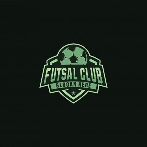 futsal club logo badge design vector premium