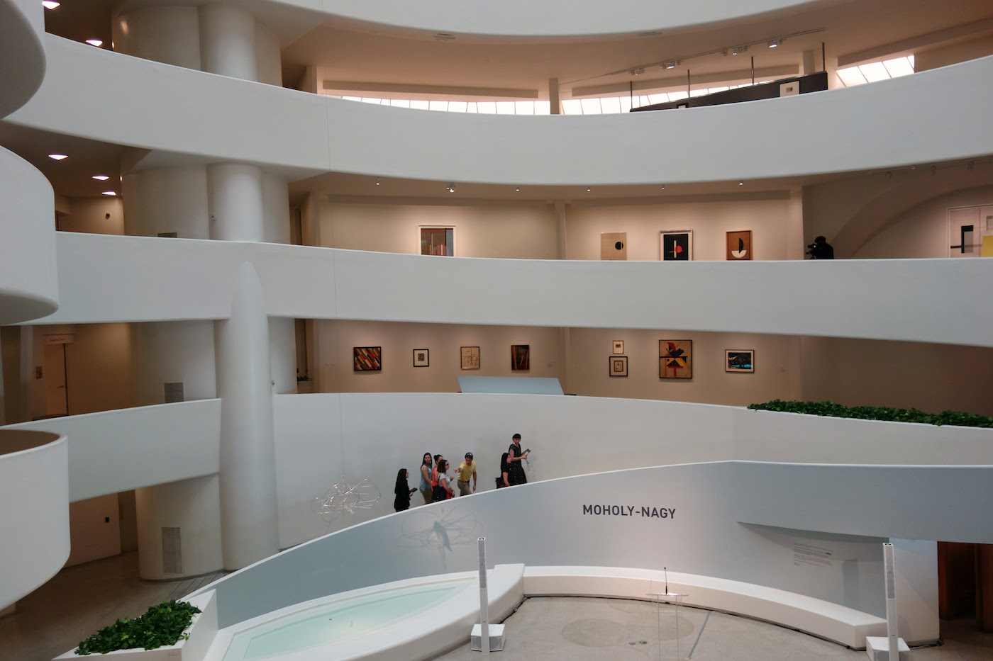 Installation view of 'Moholy-Nagy: Future Present' at the Guggenheim Museum