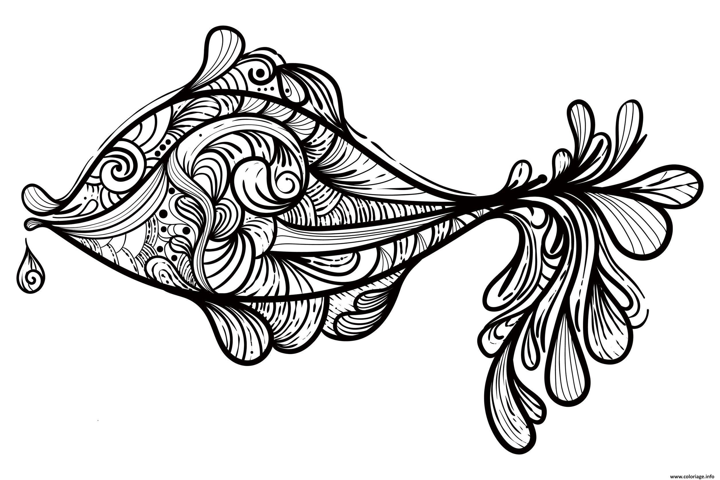 Coloriage Adulte Animaux Poisson Coloriage Jecoloriecom