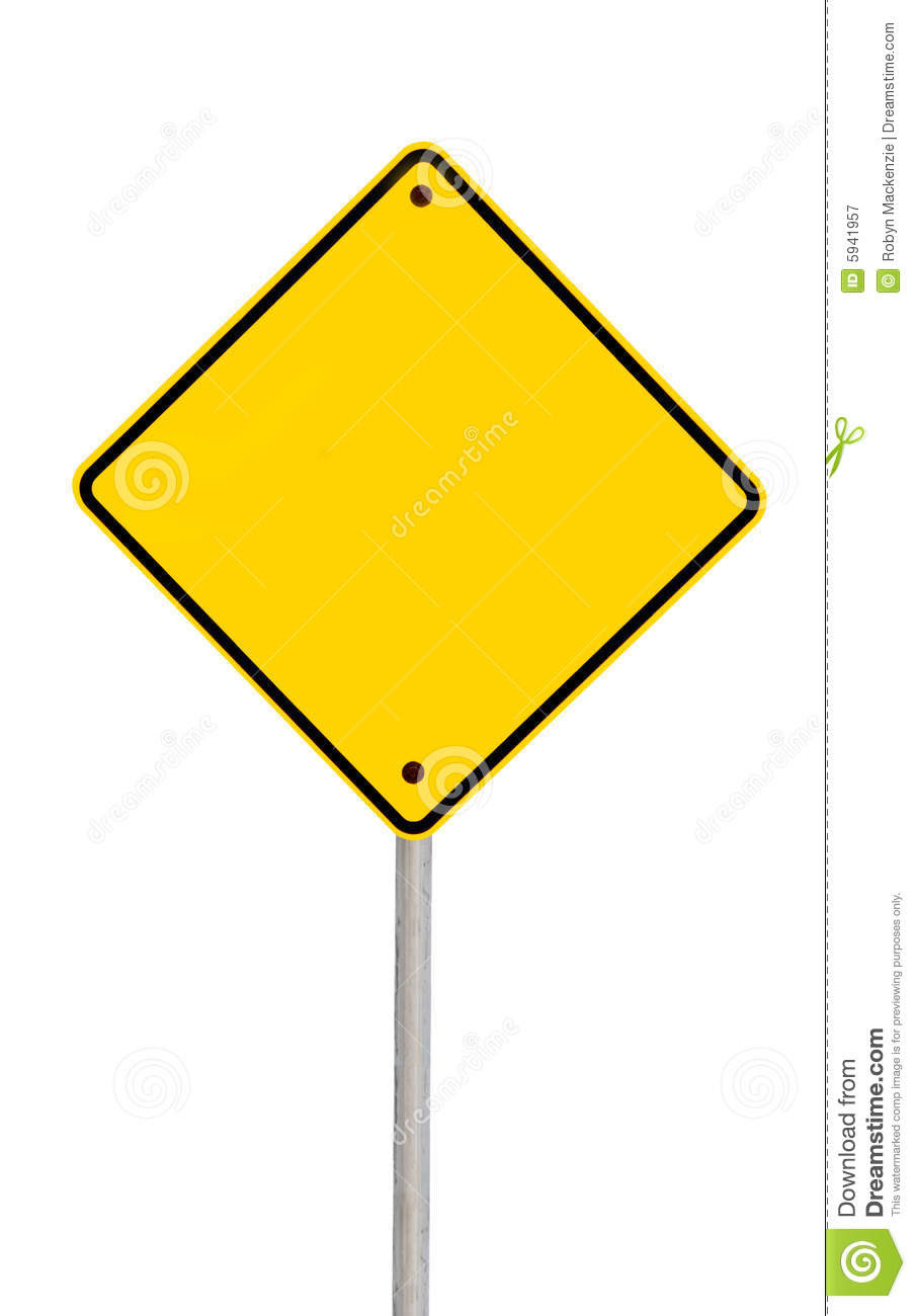 Blank Road Sign (with Path) Royalty Free Stock Photography - Image ...