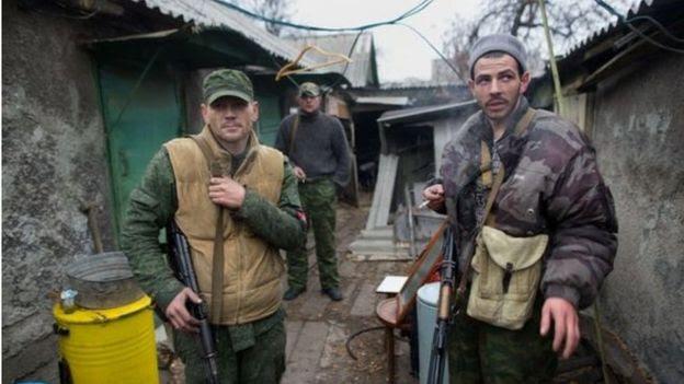 Separatistas russos em Donetsk