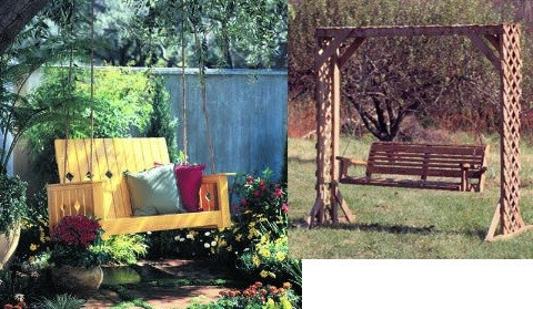 Learn how to build a garden or porch swing with this free project