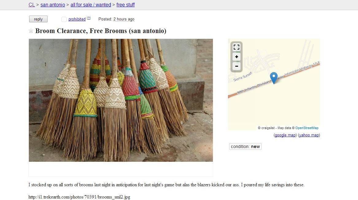 Free Stuff San Antonio Craigslist