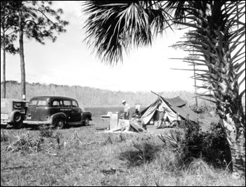 Campers in Corkscrew Swamp: Collier County, Florida (19--)