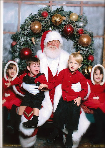 Santa with kids 2008