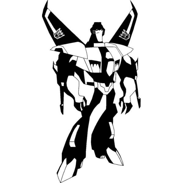 Disegno Di Skywarp Transformers Da Colorare Per Bambini