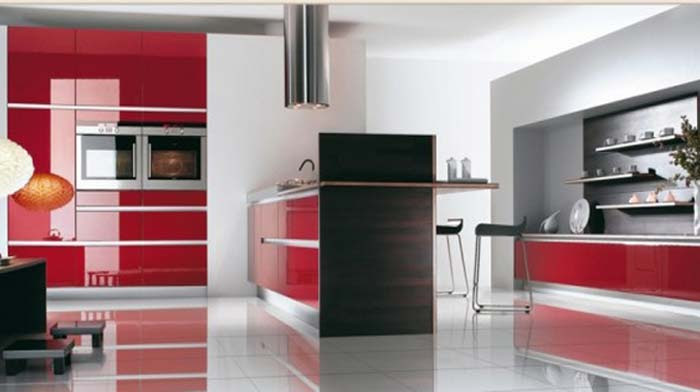 the red retro kitchen ideas