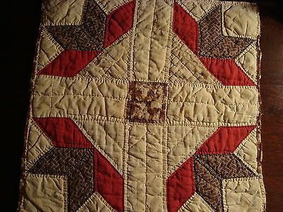 antique quilts from the 1920s | PRIMITIVE ANTIQUE 1920 PA HANDSTITCHED TURKEY TRACKS QUILT PIECE ...