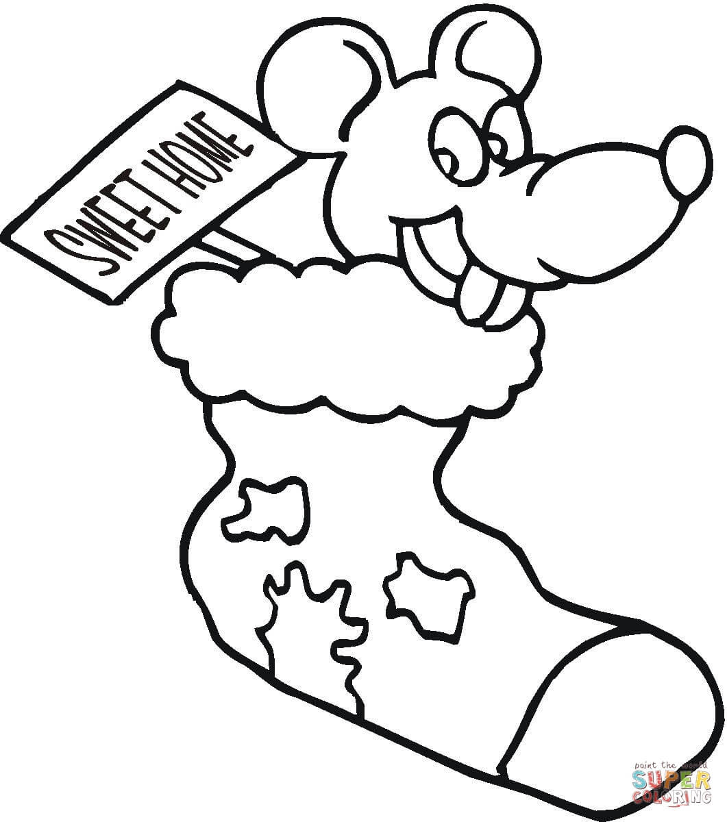 870 Top Free Coloring Pages Christmas Mouse Pictures