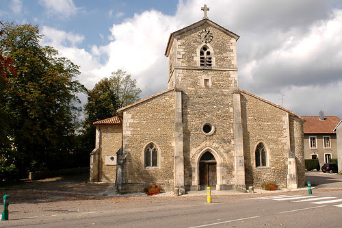 The church in Domrémy-la-Pucelle