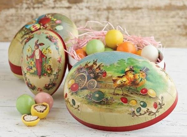 traditionelle Eier Ideen mit Osterhasen-von hand bemalt