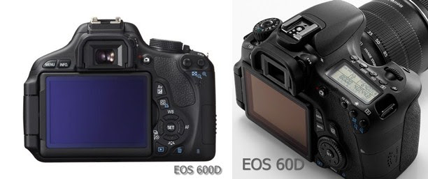 Canon EOS 600D vs 550D vs 60D