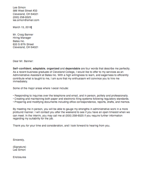 16+ Best Intern Cover Letter No Experience  That Wow