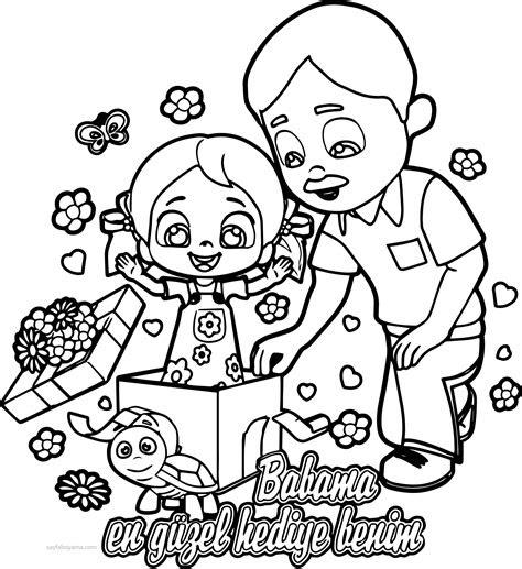 niloya babama en guezel hediye boyama sayfasi