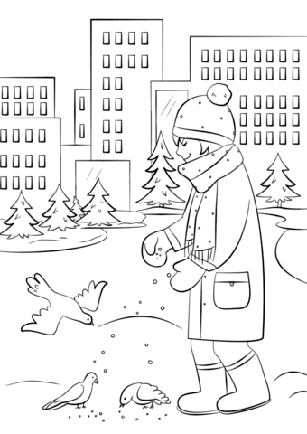 Some Seed was Eaten by Birds in Parable of the Sower Coloring Page